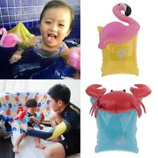 2pcs Inflatable Flamingo/Crab Arm Band Ring Kids Float Swimming Pool Water Toys
