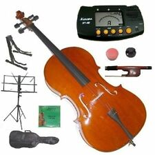 Merano New Student Beginner Cello,Bag,Bow+2 Sets of Strings+2 Stands+Mute+Rosin