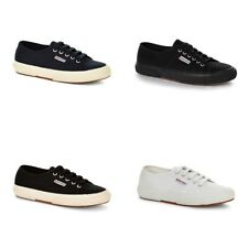 New Superga 2750 Cotu Classic Shoes White Black Canvas Sneakers Men All Sizes