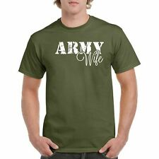 Army Wife Armed Men's Tee Shirt Forces Proud Military 100% Cotton T-shirt