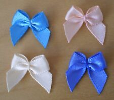 20x 15mm DOUBLE SIDED SATIN BOWS (6mm RIBBON)-CRAFTS-WEDDING-SEWING-CARDS-SCRAPB
