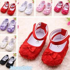NEW Toddler Baby Girls Princess Shoes Kid Dress Bowknot Rose Flower Shoes GW