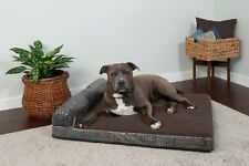 Quilted Fleece & Print Suede Chaise Lounge Memory Top Sofa-Style Pet Bed