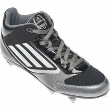 New Mens adidas Micoach Lightning D Football Cleats Black/White/Silver