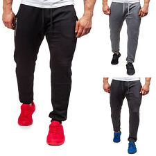 Men's Skinny Track Pants Slim Cuff Trousers Sport Casual Gym Running Long Pants