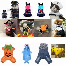 Pet Pirate Costume Cats Dog Puppy Coat Sweater Apparel Dress Up Halloween Party