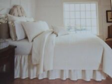 Noble Excellence Villa AMAFLI Quilted Pillow Sham, Euro, King, Ivory, NWT NIP