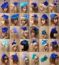 FASCINATOR ROYAL BLUE TURQUOIS WEDDING RACES PROM ASCOT OCCASION CHOOSE - LOT