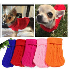 XXXS/XXS/XS teacup Chihuahua Dog Clothes Knitted Sweater Pet Puppy Cat Warm Coat