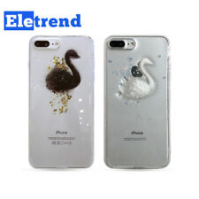 Silicone 3d Swan Bling Soft Case Cover Transparent Elegant Fr iPhone 6 6S 7 Plus