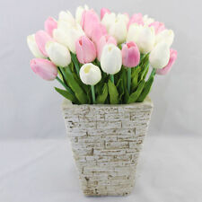 Artificial Tulips Silk Flower Leaf Bouquet Home Wedding Party Bridal Decoration