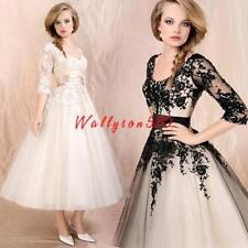 Womes lady Wedding Dress Lace Prom Ball Cocktail Bridal Formal Evening Gown