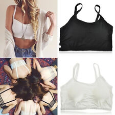 SEXY WOMEN'S BRALETTE CAGED BACK CUT OUT STRAPPY PADDED BRA BRALET VEST CROP TOP