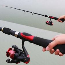 Telescopic Spinning Reel and Fishing Rods Sea Saltwater Carbon Fiber Pole