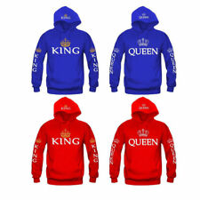 UK Men Women Hoodie Sweatshirt KING and QUEEN Sweater Pullover Coat Jumper CP