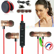 Red -MD56 Magnetic Bluetooth Handsfree Headset Earphone For Cell Phone Sony /HTC
