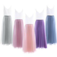 Women Ladies Tank Top Maxi Skirt Bridesmaid Evening Prom Gown Cocktail Party