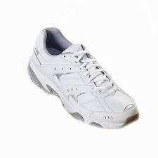Men Avia® A6012 White/Grey Lace-Up Athletic Shoes Med & Wide Widths US Size