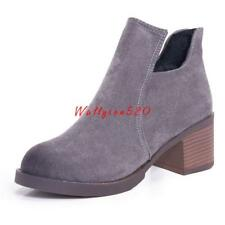Women's Martin Boots Black Autumn Shoes Work Boots Flat Heel Ankle Boots New