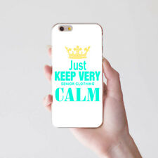 Keep Very Calm Print Case Cover for iPhone 8 Samsung S8 Huawei P9 Xiaomi Welcome