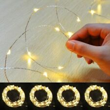 20/30/40/50/100LED MICRO WIRE STRING FAIRY PARTY XMAS WEDDING CHRISTMAS LIGHT UK