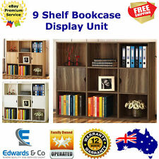 9 Cube Display Unit Cabinet Home Office Bookcase Unit Shelves Bookshelf Storage