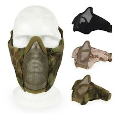 Tactical Airsoft Paintball Half Face Protective Guard Metal Mesh Wire Mask Cover