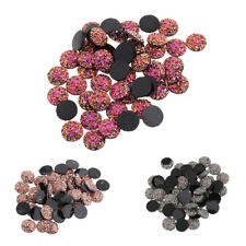 MagiDeal Flat Back Round Resin Cabochon Embellishment DIY Beads for Phone Craft