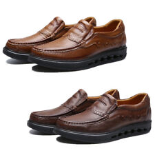 Fashion Leather Brown Loafers Mens Dress Formal Business Pull On Casual Shoes Sz