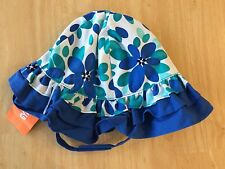 NWT Gymboree Seaside Stroll Floral sunhat Chin strap 12-24mo 4T-5T Toddler