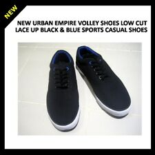 NEW URBAN EMPIRE VOLLEY SHOES LOW CUT LACE UP BLACK & BLUE SPORTS CASUAL SHOES