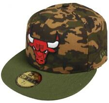 New Era Chicago Bulls Camo Team Fitted Cap 59fifty 5950 Baseball Cap Men NBA