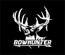 Whitetail Buck Antlers Passin Through Bowhunter Arrow Deer Hunting Decal Sticker