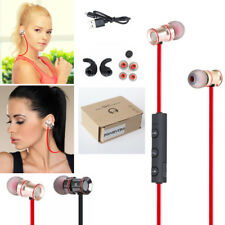 Red ZH53 In-Ear Sports Bluetooth Headphone Headset Earphone For Call Phone Apple