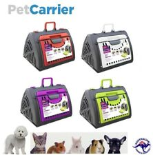 Pet Carrier Cat Dog Crate Plastic Cage House Folding Animal Travel Kennel Bag