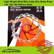 ALLIGATOR Light Weight Wind Bike Cutter Disc Brake Rotor 140 160 180 203mm (Red)