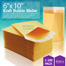 #0 6x10 KRAFT BUBBLE MAILERS PADDED SELF SEAL SHIPPING BAGS ENVELOPES