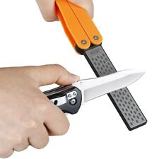 Portable Diamond Knife Sharpener Stone Whetstone Double Side Folded Pocket Steel