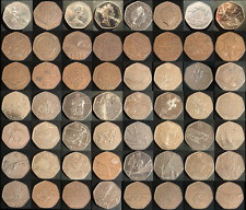 Various UK 50p Coins + Olympic & Commemorative + Kew Fifty Pence Coin Listed