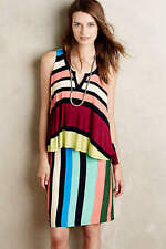 New $128 Anthropologie Layered Davina Dress by Maeve STRIPED Various Sizes