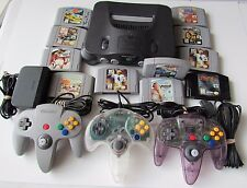 Nintendo 64 System Bundle - 3 Controllers - 10 Games - Tested - SUPER FAST SHIP!