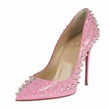 Christian Louboutin Follie Spike Pink Patent Leather 100 Dolly Pumps