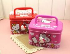 New HelloKitty Metal Money Bank Box Kid Piggy Bank Girl Storage Box w/ Lock LM88