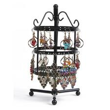 3 Tiers Jewelry Earrings Necklace Display Stand Holder Show Rack 72 Holes