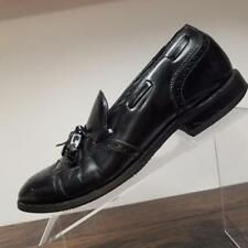 Johnston Murphy Black Leather Wingtip Brogue Oxford Dress Shoes Mens 8 D/B
