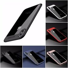 iPhone X Case Hard Phone Case Clear Back Fusion Frame Bumper Ultra-Thin Cover
