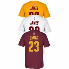 LeBron James Adidas Cleveland Cavaliers Player Name & Number Jersey T-Shirt Men
