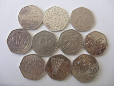 JUBILEE!!!!!! 50 PENCE (ENGLAND.ISLE OF MAN.JERSEY.GIBRALTAR )
