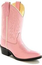 Girl's Old West Pink Faux Leather Pageant/Costume Western Style Cowgirl Boots