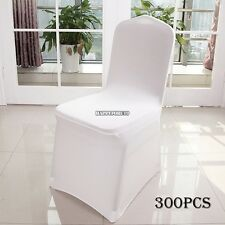 300x White Chair-Cover Spandex Lycra Wedding Banquet Anniversary Party Decor US